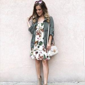 Xhilaration Tropical Floral Cami Dress NWT